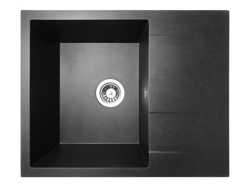 Кухонная мойка PoliComposite К02 черный