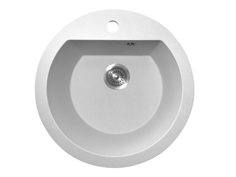 Кухонная мойка PoliComposite М02 белый