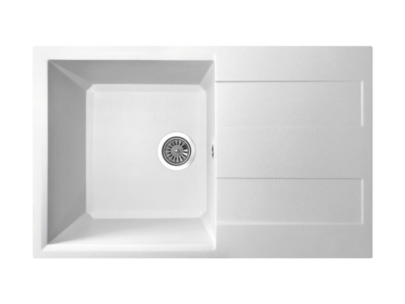 Кухонная мойка PoliComposite Д01 белый