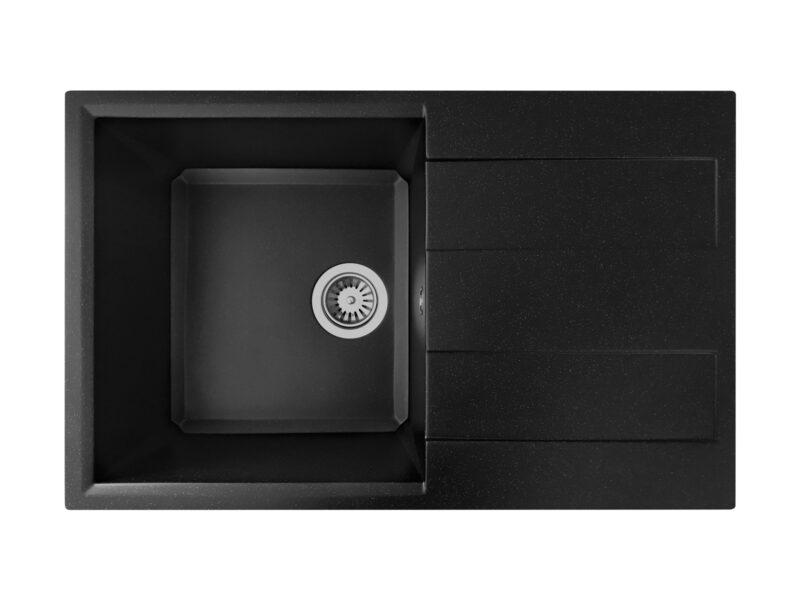 Кухонная мойка PoliComposite Д01 черный