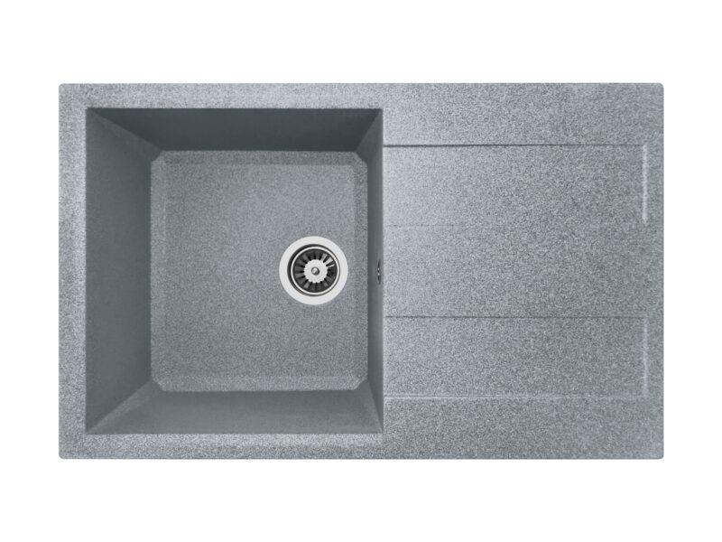 Кухонная мойка PoliComposite Д01 серый